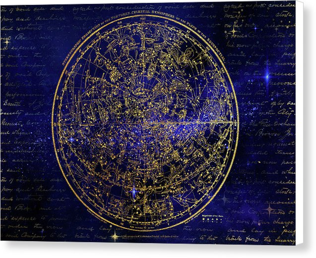 Northern Hemisphere Constellations - Canvas Print from Wallasso - The Wall Art Superstore