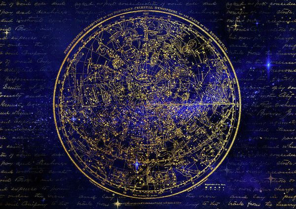 Northern Hemisphere Constellations - Art Print from Wallasso - The Wall Art Superstore