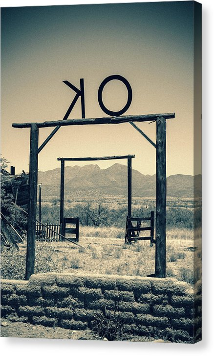 O.k. Corral In Arizona Desert - Canvas Print from Wallasso - The Wall Art Superstore