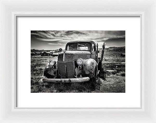 Old Abandoned Truck - Framed Print from Wallasso - The Wall Art Superstore