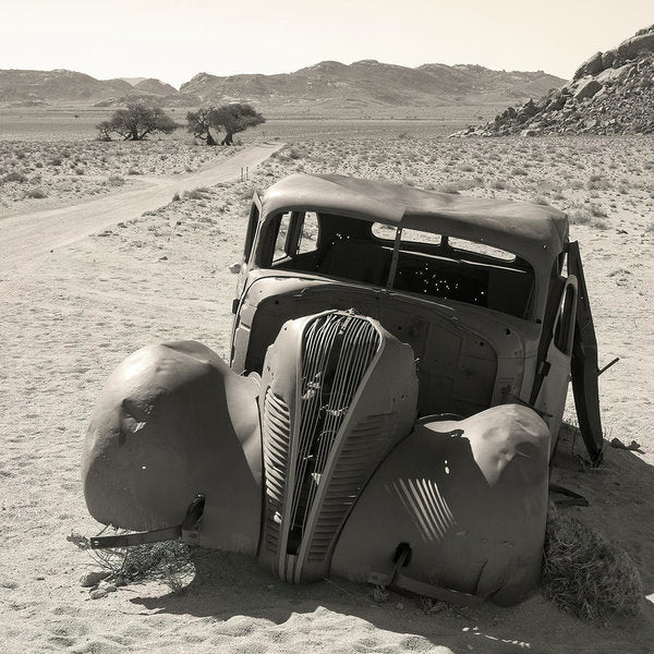 Old Car Abandoned In Desert - Art Print from Wallasso - The Wall Art Superstore