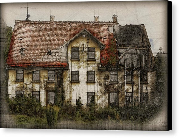 Old House - Canvas Print from Wallasso - The Wall Art Superstore