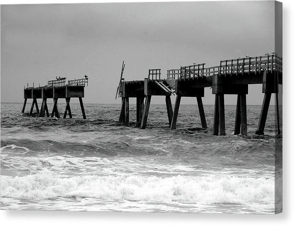 Old Pier Collapsing Into The Sea - Canvas Print from Wallasso - The Wall Art Superstore