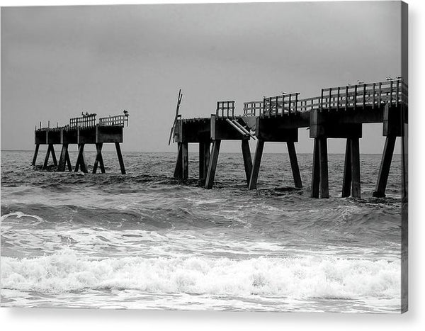 Old Pier Collapsing Into The Sea - Acrylic Print from Wallasso - The Wall Art Superstore