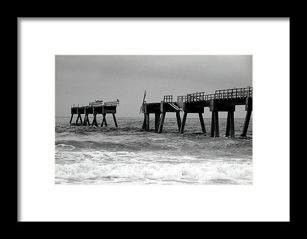 Old Pier Collapsing Into The Sea - Framed Print from Wallasso - The Wall Art Superstore