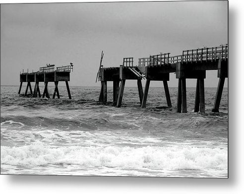 Old Pier Collapsing Into The Sea - Metal Print from Wallasso - The Wall Art Superstore