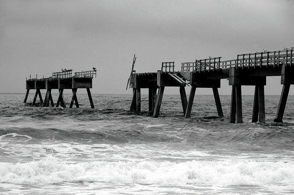Old Pier Collapsing Into The Sea - Art Print from Wallasso - The Wall Art Superstore