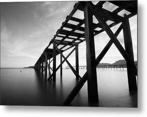 Old Wooden Pier In Disrepair - Metal Print from Wallasso - The Wall Art Superstore