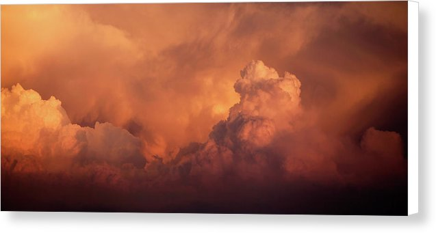 Orange Clouds - Canvas Print from Wallasso - The Wall Art Superstore