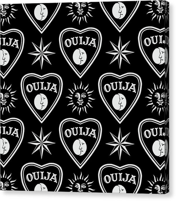 Ouija Board Planchette Design - Canvas Print from Wallasso - The Wall Art Superstore