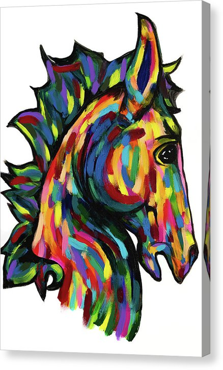 Painted Pony by Jessica Contreras - Canvas Print from Wallasso - The Wall Art Superstore