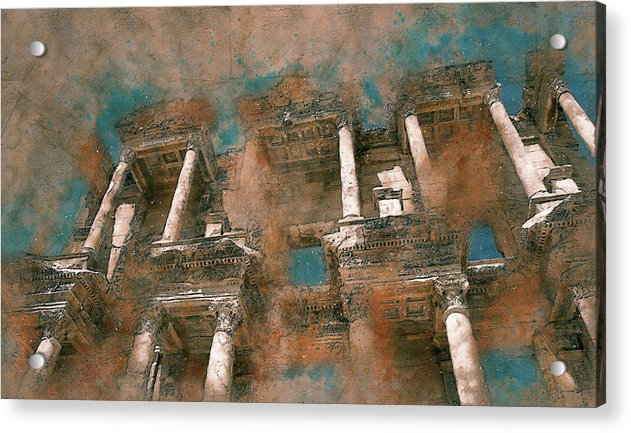 Painting of Ancient Ruins and Columns - Acrylic Print from Wallasso - The Wall Art Superstore