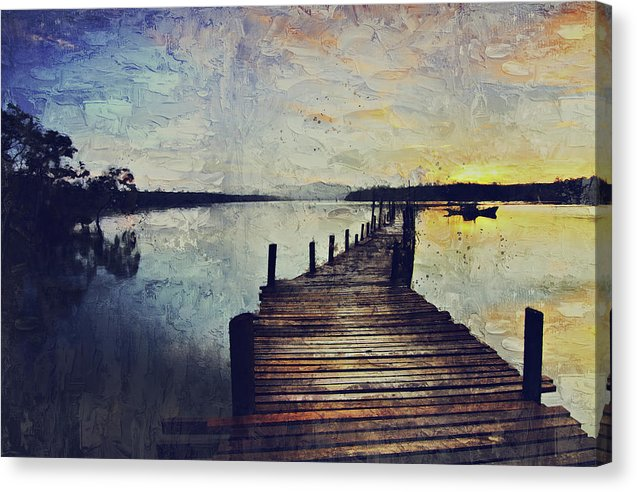 Painting of Boardwalk At Sunrise - Canvas Print from Wallasso - The Wall Art Superstore