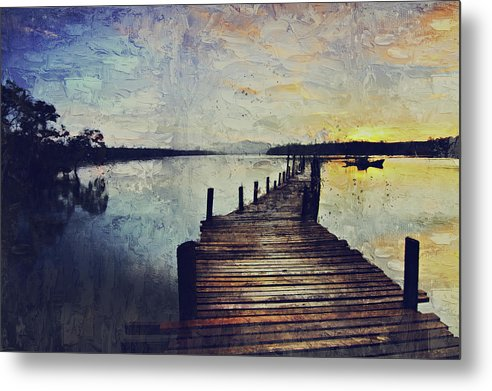 Painting of Boardwalk At Sunrise - Metal Print from Wallasso - The Wall Art Superstore