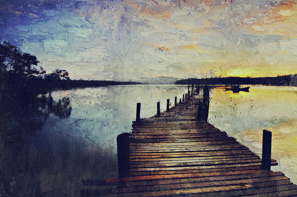 Painting of Boardwalk At Sunrise - Art Print from Wallasso - The Wall Art Superstore