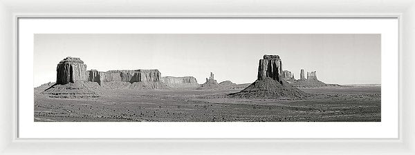 Panorama of Monument Valley - Framed Print from Wallasso - The Wall Art Superstore