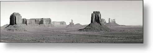 Panorama of Monument Valley - Metal Print from Wallasso - The Wall Art Superstore