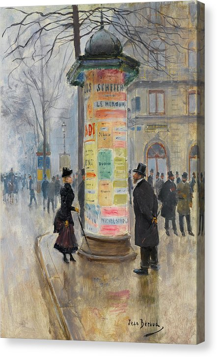 Parisian Street Scene By Jean Beraud, 1885 - Canvas Print from Wallasso - The Wall Art Superstore