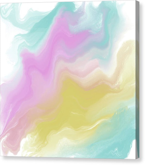 Pastel Abstract by Jessica Contreras - Canvas Print from Wallasso - The Wall Art Superstore