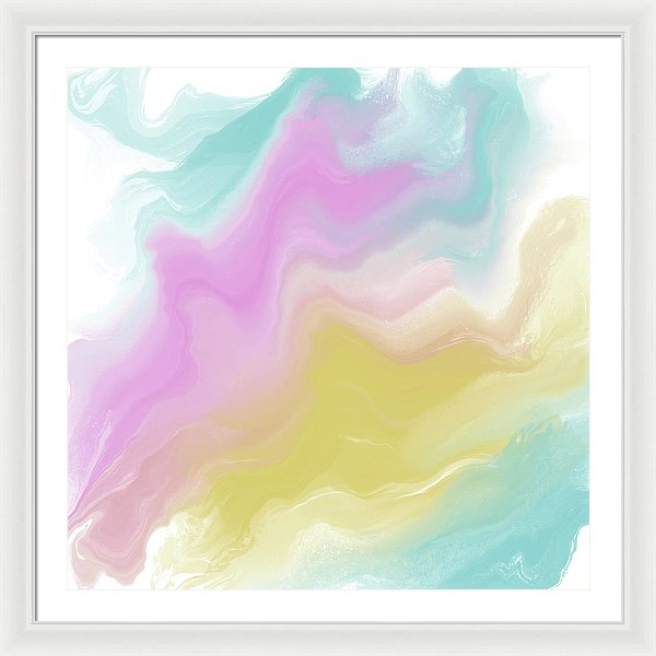 Pastel Abstract by Jessica Contreras - Framed Print from Wallasso - The Wall Art Superstore