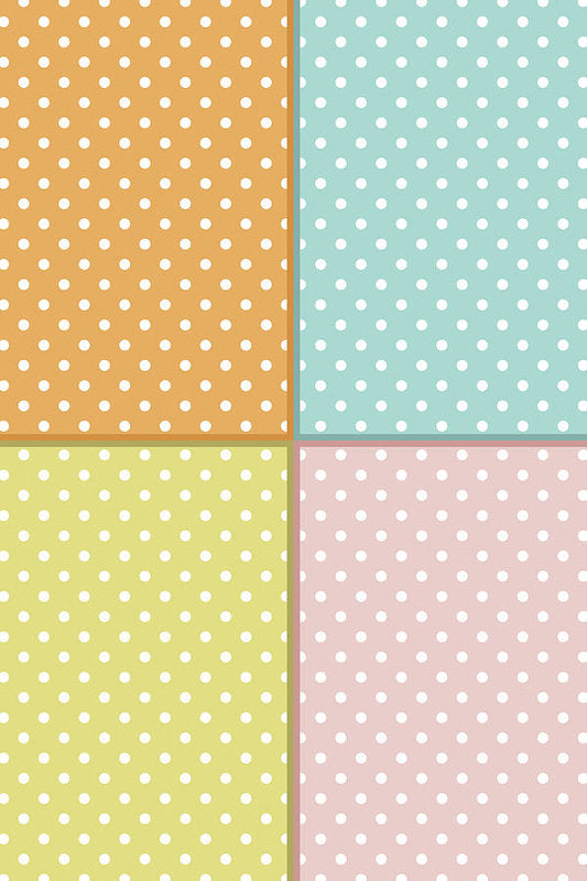 Pastel Polka Dot Pattern For Kids - Art Print from Wallasso - The Wall Art Superstore