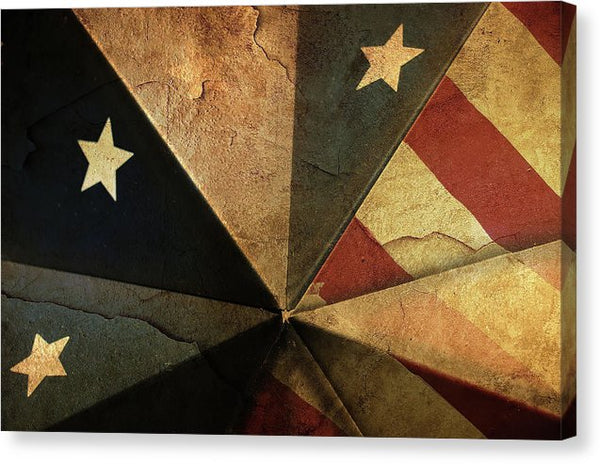Patriotic American Flag Design - Canvas Print from Wallasso - The Wall Art Superstore