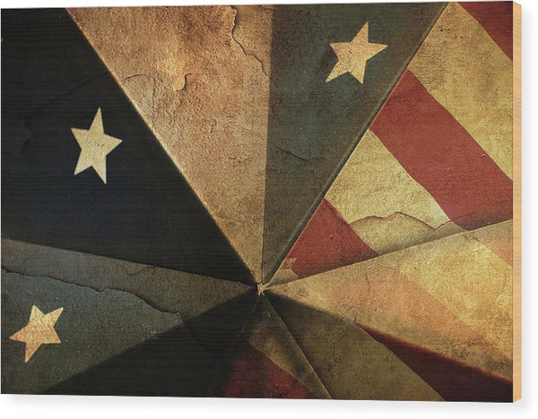 Patriotic American Flag Design - Wood Print from Wallasso - The Wall Art Superstore