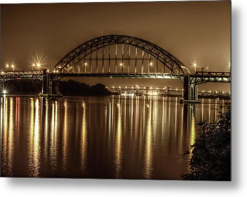 Philadelphia, Pennsylvania Bridge At Night - Metal Print from Wallasso - The Wall Art Superstore