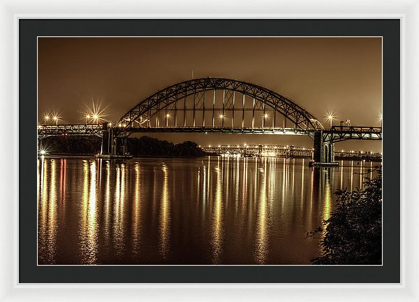 Philadelphia, Pennsylvania Bridge At Night - Framed Print from Wallasso - The Wall Art Superstore