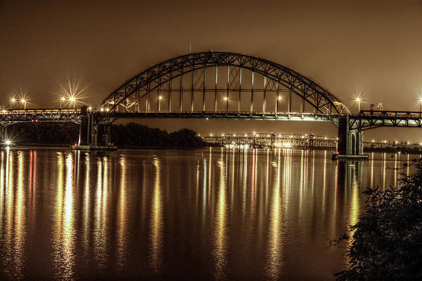 Philadelphia, Pennsylvania Bridge At Night - Art Print from Wallasso - The Wall Art Superstore
