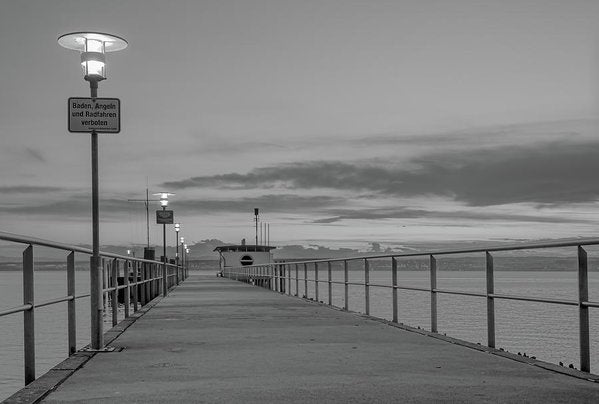 Pier At Lake Constance, Germany - Art Print from Wallasso - The Wall Art Superstore