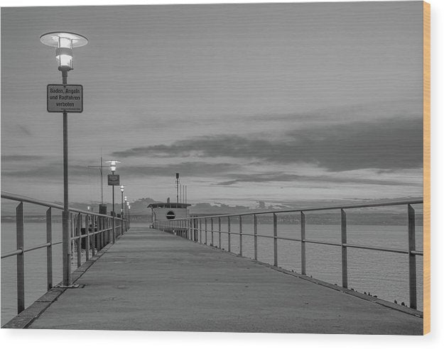 Pier At Lake Constance, Germany - Wood Print from Wallasso - The Wall Art Superstore