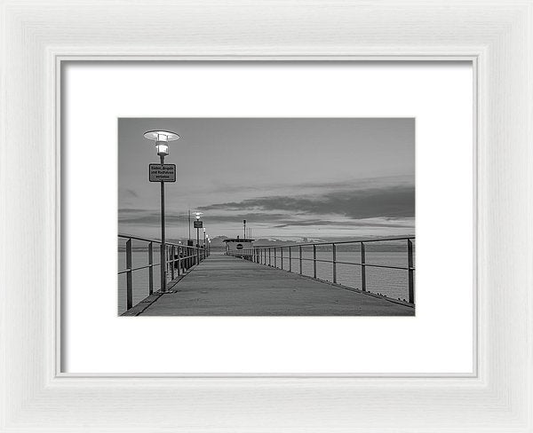 Pier At Lake Constance, Germany - Framed Print from Wallasso - The Wall Art Superstore