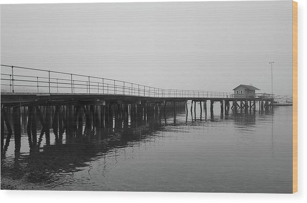 Pier At Southwest Harbor, Maine Acadia National Park - Wood Print from Wallasso - The Wall Art Superstore