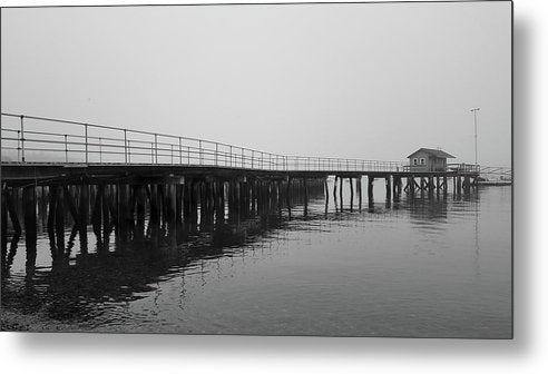 Pier At Southwest Harbor, Maine Acadia National Park - Metal Print from Wallasso - The Wall Art Superstore