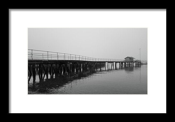 Pier At Southwest Harbor, Maine Acadia National Park - Framed Print from Wallasso - The Wall Art Superstore