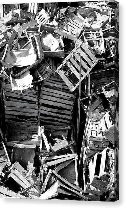 Pile of Broken Wooden Crates - Canvas Print from Wallasso - The Wall Art Superstore