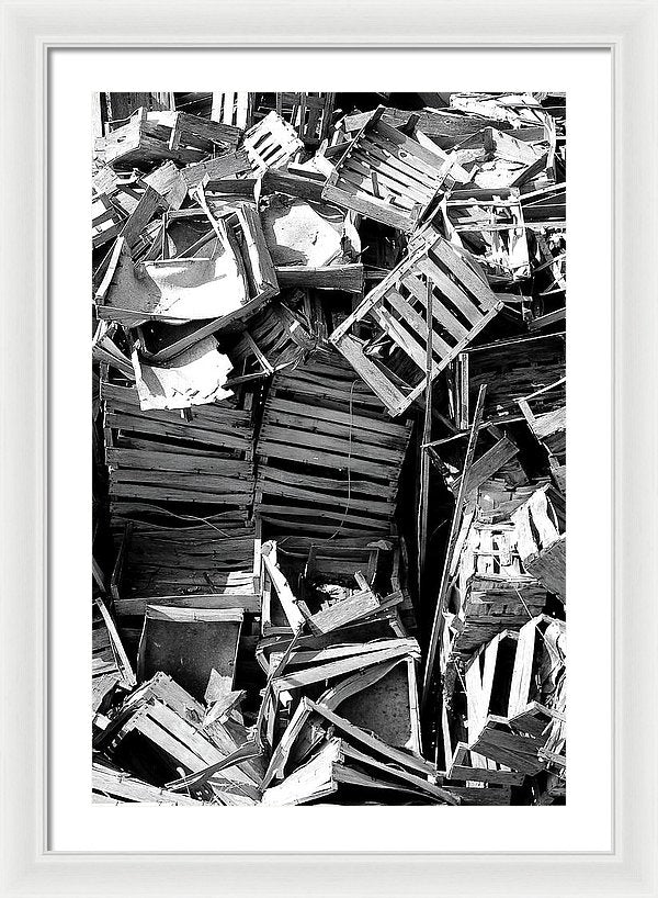 Pile of Broken Wooden Crates - Framed Print from Wallasso - The Wall Art Superstore