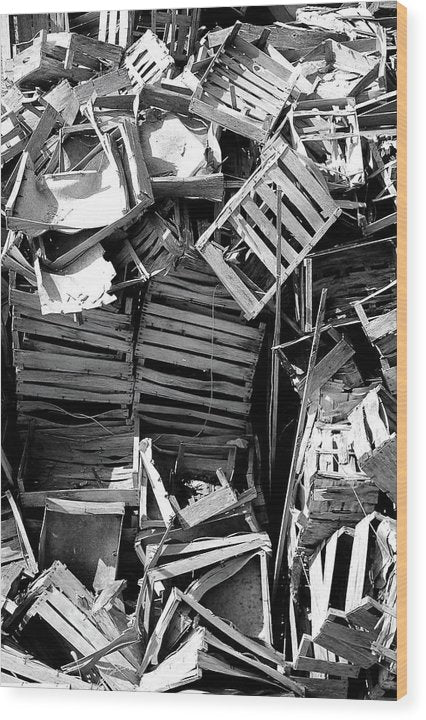 Pile of Broken Wooden Crates - Wood Print from Wallasso - The Wall Art Superstore