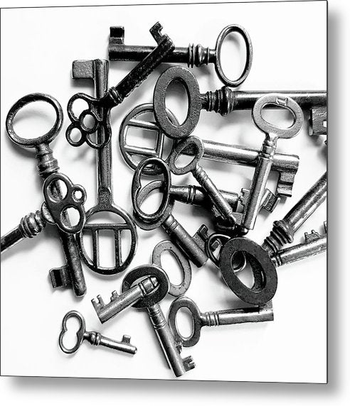 Pile of Skeleton Keys - Metal Print from Wallasso - The Wall Art Superstore