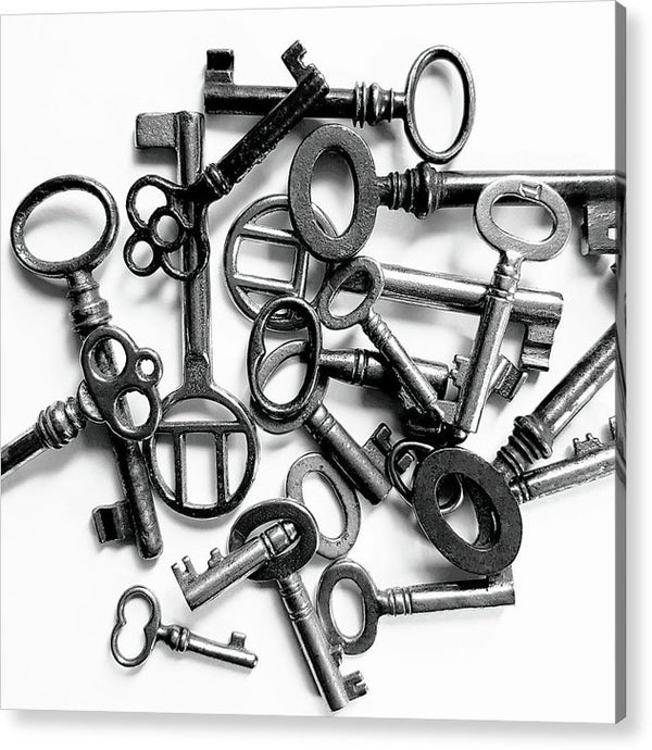 Pile of Skeleton Keys - Acrylic Print from Wallasso - The Wall Art Superstore
