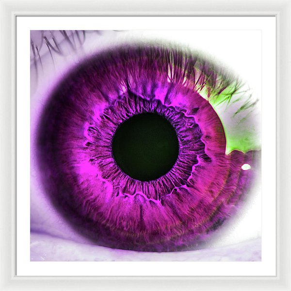Pink Pop Art Human Eye Closeup - Framed Print from Wallasso - The Wall Art Superstore