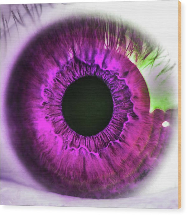 Pink Pop Art Human Eye Closeup - Wood Print from Wallasso - The Wall Art Superstore
