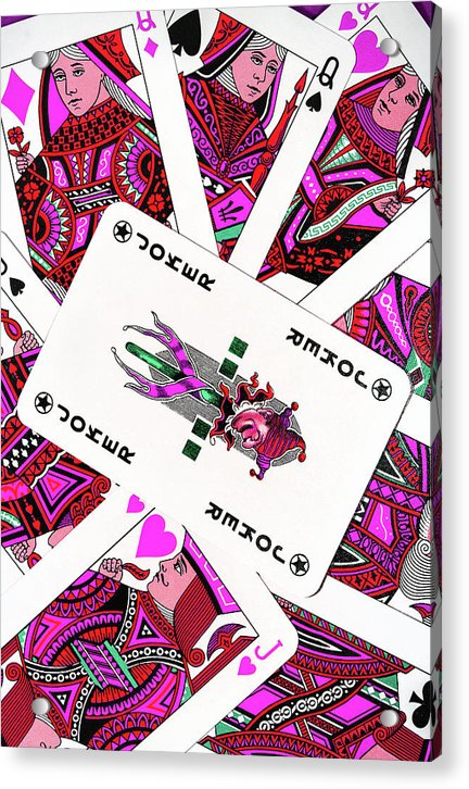 Pink Pop Art Playing Cards - Acrylic Print from Wallasso - The Wall Art Superstore
