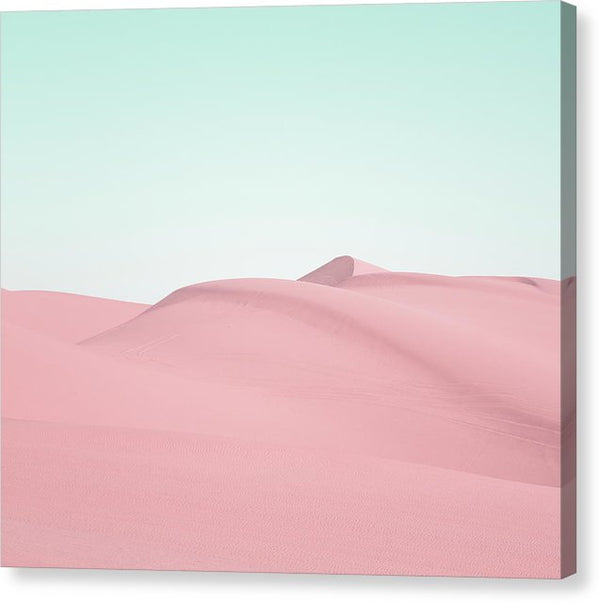 Pink Sand Dunes In Southern California - Canvas Print from Wallasso - The Wall Art Superstore