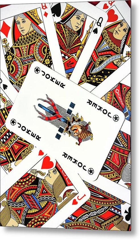 Playing Cards - Metal Print from Wallasso - The Wall Art Superstore