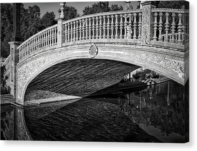 Plaza De Espana Bridge In Seville, Spain - Canvas Print from Wallasso - The Wall Art Superstore