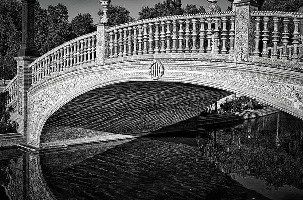 Plaza De Espana Bridge In Seville, Spain - Art Print from Wallasso - The Wall Art Superstore
