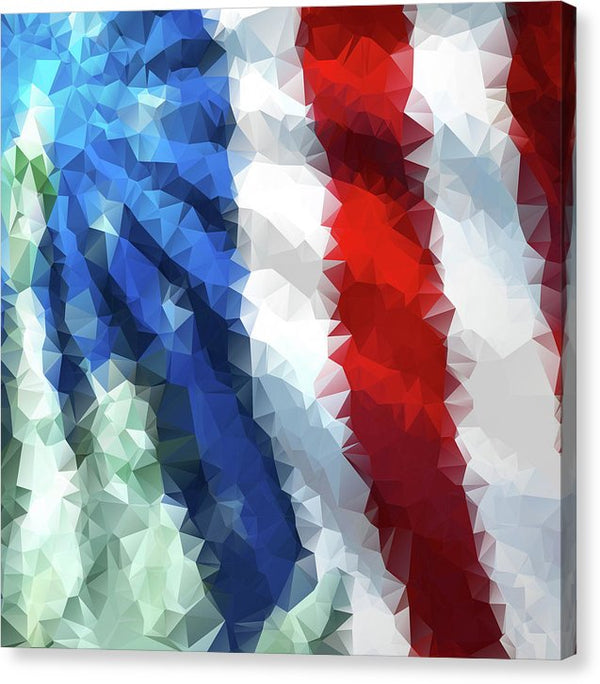 Polygon American Flag Design - Canvas Print from Wallasso - The Wall Art Superstore