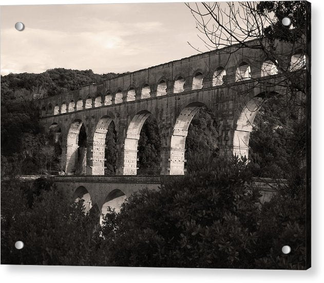 Pont Du Gard Roman Aqueduct Bridge, France - Acrylic Print from Wallasso - The Wall Art Superstore